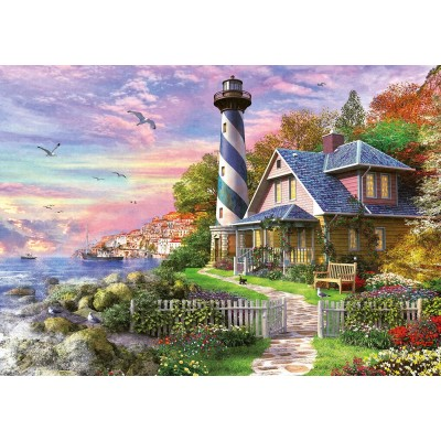Puzzle Educa-17740 Leuchtturm in Rock Bay