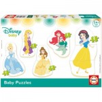 Educa-17754 5 Puzzles - Disney Princess