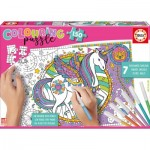 Educa-17828 Colouring Puzzles - Einhorn