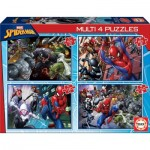 Educa-18102 4 Puzzles - Spider-Man