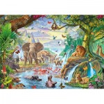 Puzzle  Jumbo-18800 XXL Teile - Jungle Lake