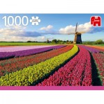 Puzzle  Jumbo-18833 Field of Tulips
