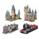 Wrebbit-3D-Set-Harry-Potter 4 3D Puzzles - Set Harry Potter