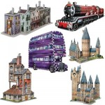 Wrebbit-Set-Harry-Potter-2 6 3D Puzzles - Set Harry Potter