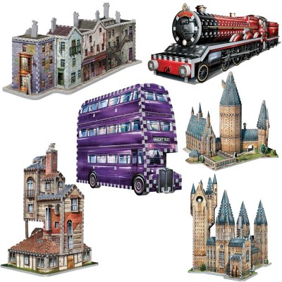 Wrebbit-Set-Harry-Potter-2 6 3D Puzzles - Set Harry Potter (TM)