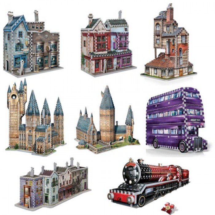 8 x 3D Puzzles - Set Harry Potter (TM)