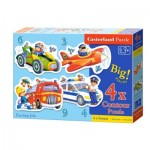 Castorland-005055 4 Puzzles - Exciting Jobs