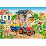 Puzzle  Castorland-040193 XXL Teile - Life on the Farm