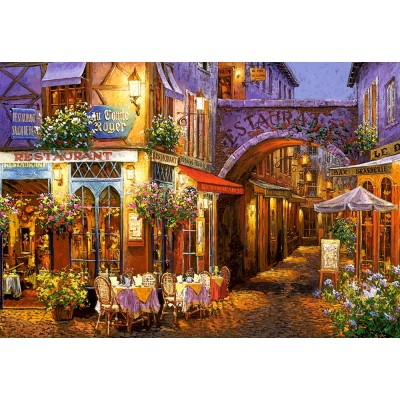 Puzzle Castorland-104123 Evening in Provence