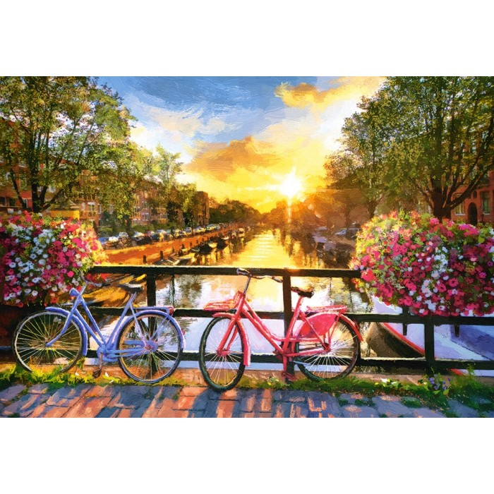 Picturesque Amsterdam with Bicycles