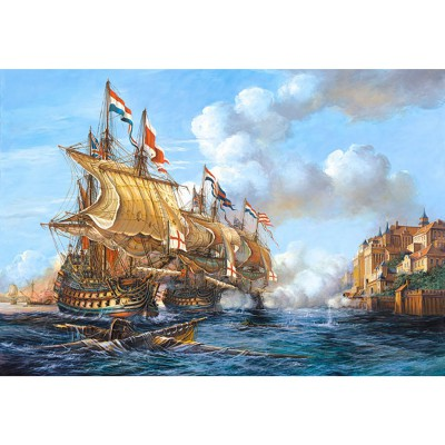 Puzzle Castorland-200245 Copy of Battle of Porto, Bello, 1739