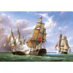 Puzzle  Castorland-300037 Vessels: Die Schlacht von Trafalgar