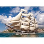 Puzzle  Castorland-52851 Tall Ship Leaving Harbour