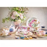 Puzzle  Castorland-53384 Still Life with Porcelain and Flowers