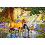 Puzzle   Horses by the Stream