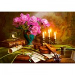 Puzzle   Still Life with Violin and Flowers