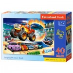 Puzzle   XXL Teile - Jumping Monster Truck