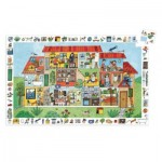 Djeco-07594 Entdecker Puzzle - The House