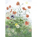 Puzzle  Heye-29774 Crowther, Red Poppies