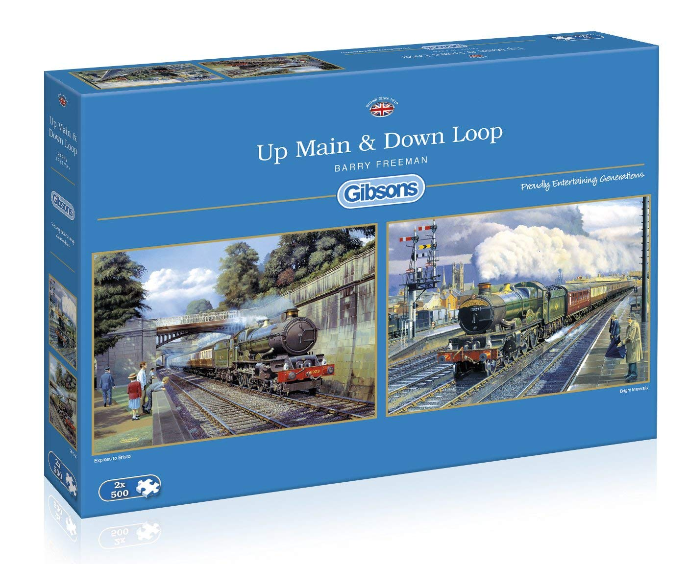 2 puzzles up main down loop 500 teile gibsons puzzle online kaufen. Black Bedroom Furniture Sets. Home Design Ideas