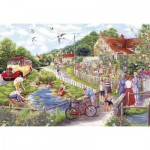 Puzzle  Gibsons-G2711 XXL Teile - Summer by the Stream