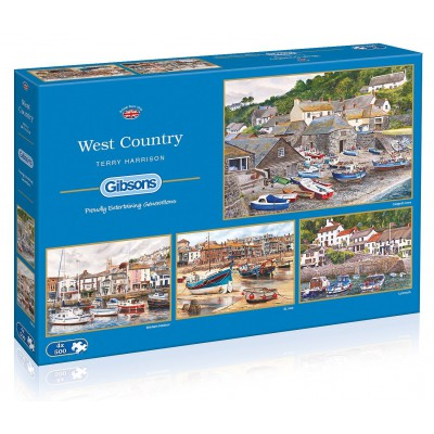 Gibsons-G5023 4 Puzzles - Terry Harrison: Westen des Landes