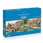 Gibsons-G5028 2 Puzzles - Terry Harrison: Cotswold villages