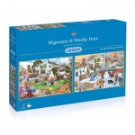 Gibsons-G5042 2 Puzzles - Trevor Mitchell - Wigwams and Woolly Hats
