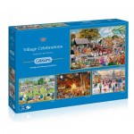 Gibsons-G5051 4 Puzzles - Trevor Mitchell - Village Celebrations