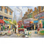 Gibsons-G6113 Puzzle 1000 Teile: The Market Stall