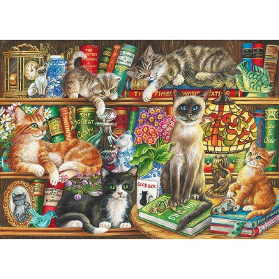 Puzzle Gibsons-G6147 Puss In Books