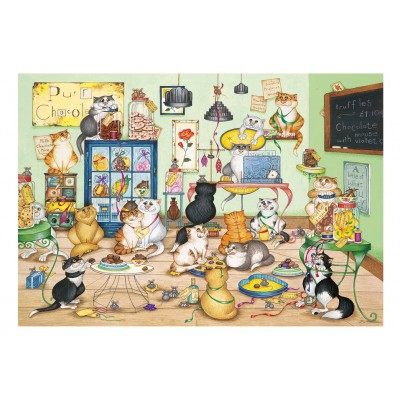 Puzzle Gibsons-G6164 Linda Jane Smith: Purrfect Chocolate
