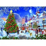 Puzzle  Gibsons-G6224 Steve Crisp - The Village Christmas Tree