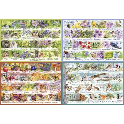 Puzzle Gibsons-G8014 Woodland Seasons