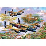 Puzzle   Jim Mitchell - Lancasters Over Lincoln
