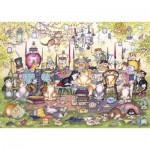 Puzzle   XXL Teile - Mad Catter's Tea Party