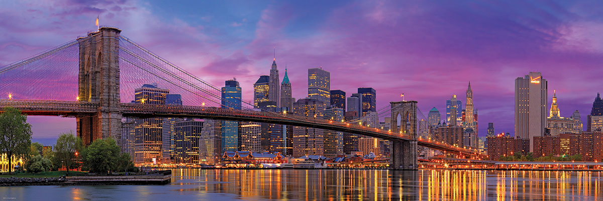 brooklyn bridge new york 1000 teile eurographics puzzle online kaufen. Black Bedroom Furniture Sets. Home Design Ideas