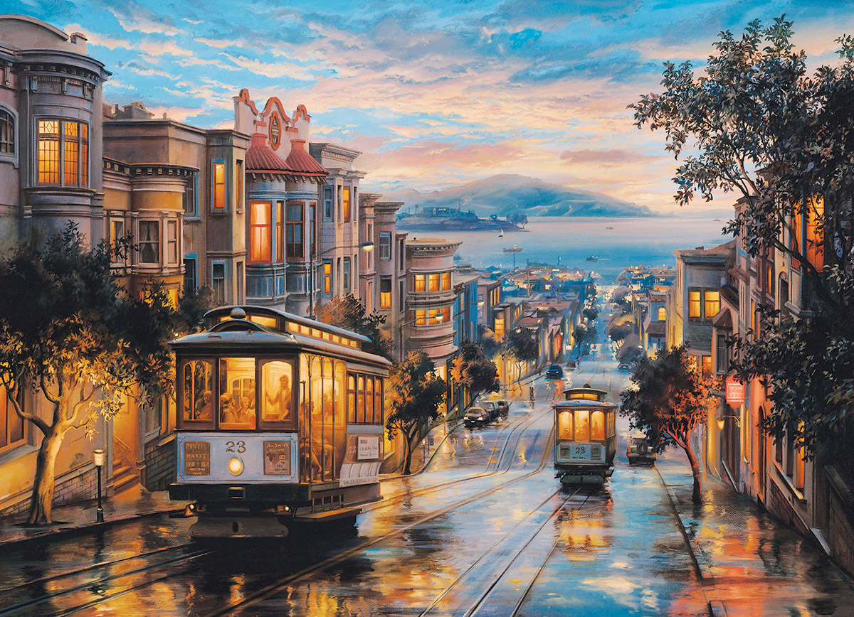 Eugene Lushpin San Francisco Cable Car Heaven 1000