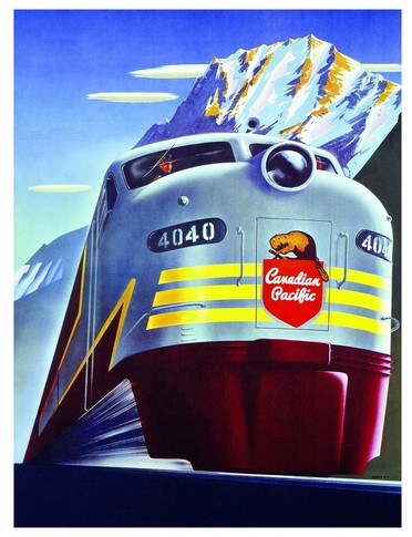 Puzzle Eurographics-6000-0325 Canadian Pacific Rail - Diesel 4040