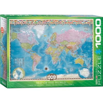 Puzzle Eurographics-6000-0557 Map of the World