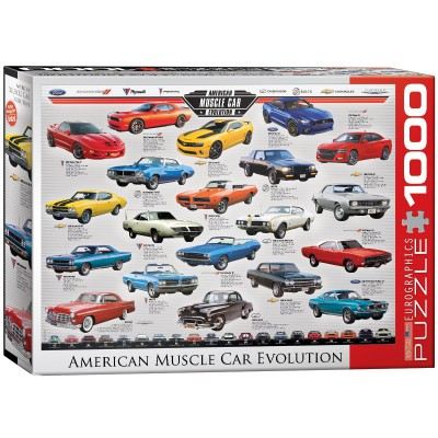 Puzzle Eurographics-6000-0682 Muscle Car Evolution