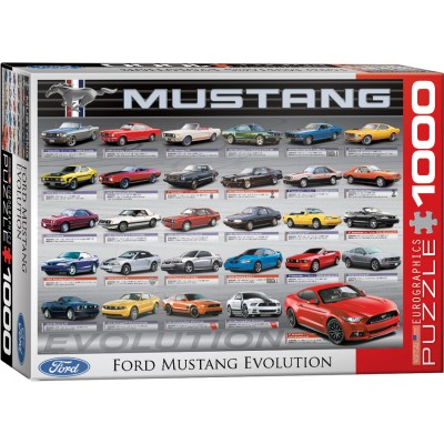 ford mustang evolution 1000 teile eurographics puzzle. Black Bedroom Furniture Sets. Home Design Ideas