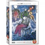 Puzzle  Eurographics-6000-0852 Marc Chagall - Der blaue Geiger