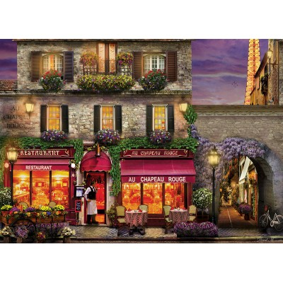 Puzzle Eurographics-6000-0963 David Mc Lean - Restaurant au Chapeau Rouge