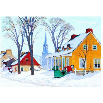 Puzzle Eurographics-6000-7190 Gagnon: Wintermorgen in Baie-St-Paul
