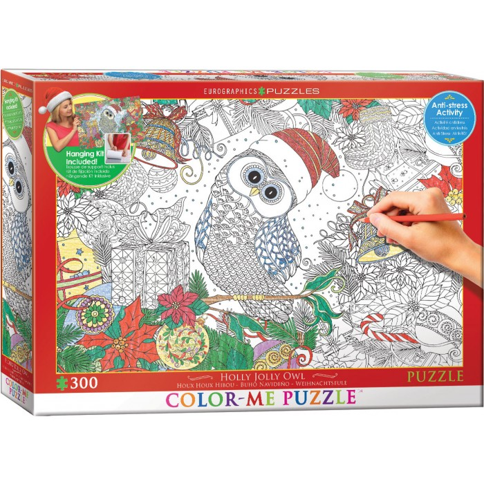XXL Color Me - Weihnachtseule