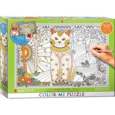 Puzzle Eurographics-6055-0888 XXL Color Me - Magical Cat