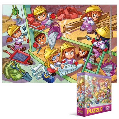 Puzzle Eurographics-6100-0524 Girl Power - Architektin Aufbau