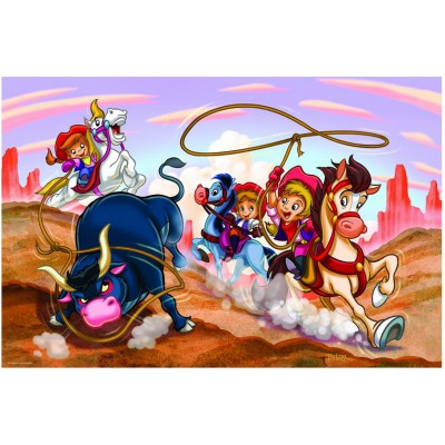 Puzzle Eurographics-6100-0649 Girl Power - Cowgirls