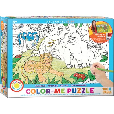 Puzzle Eurographics-6111-0892 Color Me - Dschungel
